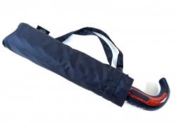 Полуавтоматический складной зонт с ручкой полукрюк
